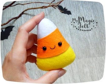 Halloween ornaments candy corn cute Halloween decorations felt Halloween party favors Halloween gifts for kids Halloween decor