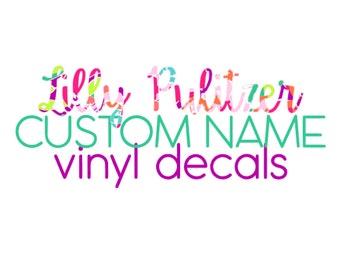 Lilly Pulitzer Custom Name Vinyl Decals