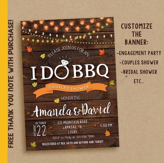 I do bbq invitation, I do bbq, fall I do bbq, I do printable invitation