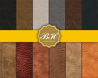 Leather backgrounds, Leather Digital Paper, Leather pattern, Leather texture, Worn Leather, Natural Leather, Instant Download