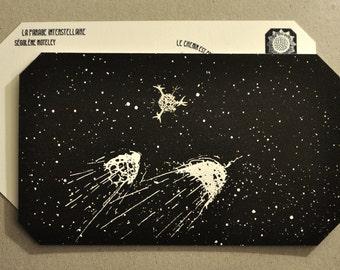 Navigations Radiolaria in Lunar deserts _ Ségolène Moteley _ postcards