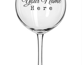Custom/Personalized Wine Glass