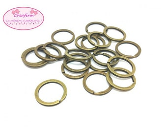 20 key Bronze 25mm rings