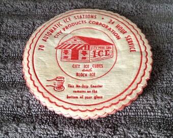 Vintage advertising absorbant coasters