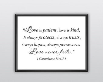 Love Is Patient Wall Art Etsy