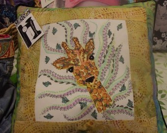 Embroidered Zentangle Giraffe
