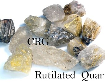 Rough Rutilated Quartz Rock Qty-1lb.