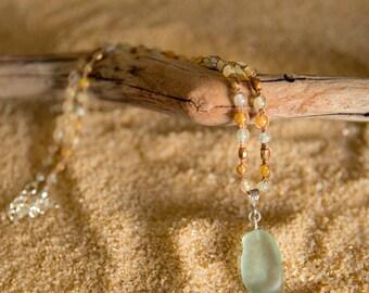Earth Beauty Seafoam Sea Glass Necklace