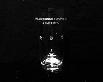 Legend of Zelda- It's Dangerous To Go Alone Take This Pint Glass