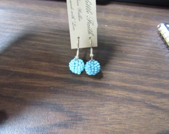 Blue Turquoise Bead Ear rings