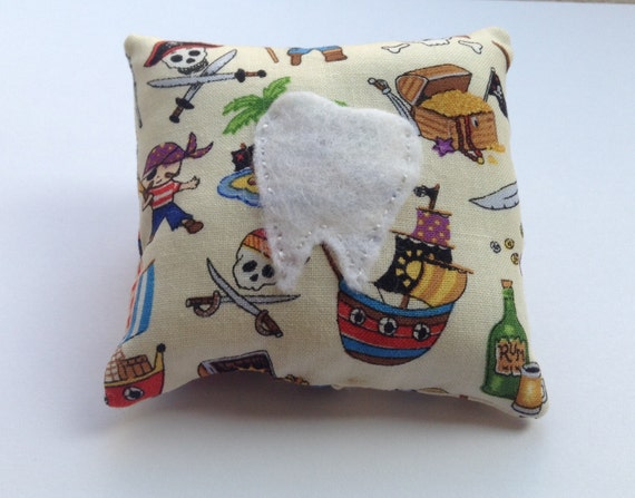 Tooth Fairy Pillow in Pirate Themed Fabric