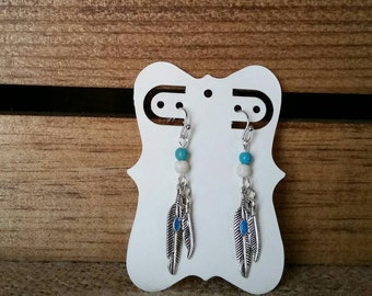 Feather earrings, Native American inspired
