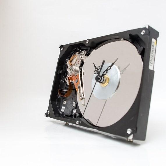 Hard Drive Clock - Unique Desk Clock - Industrial Clock - Modern Clock - Computer Clock - Husband Gift - Father Gift - Boyfriend Gift