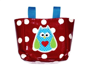Cute handlebar bag, Red spotted owl