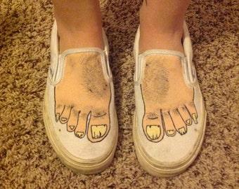 Ugly feet Vans
