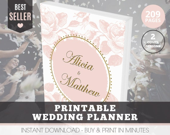 Printable Wedding Planner Binder Planning A Rustic: Wedding Planner Organizer Printable Wedding By