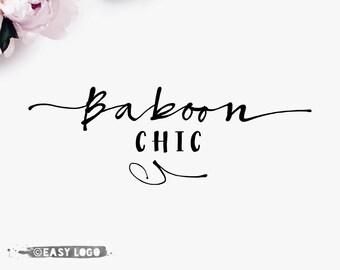 Custom Signature Logo. Calligraphy Font Logo. Simple Business Logo. Modern Boutique Logo. Beauty Salon Branding. Makeup Artist Logo. EL374.