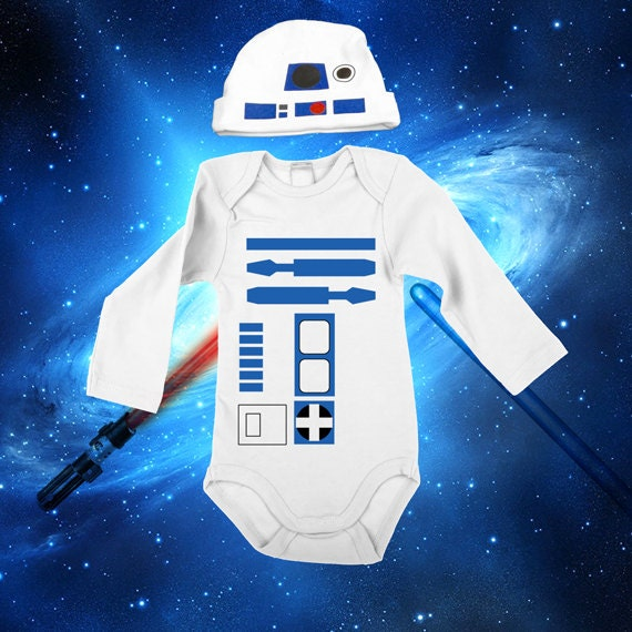 Star Wars Baby R2-D2 Onesie & Hat Set