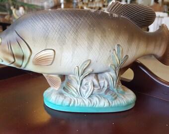 Vintage fish planter