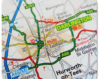 Darlington Map Coasters