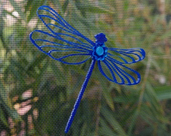 3D Screen Door Magnet   Colorful Dragonfly   Magnetic Decal   Laser cut Acrylic