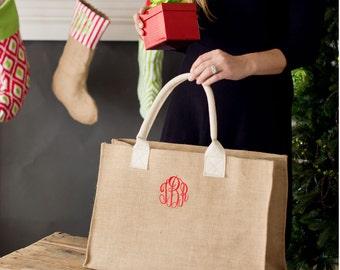 Burlap Tote Bag, Tote Bag, Burlap, Big Tote, Burlap Bag