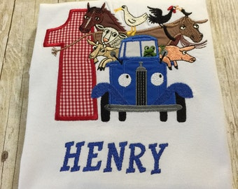 Little Blue Truck Personalized Shirt