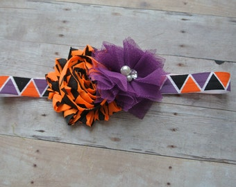Halloween Princess Headband,Fall Inspired Headbands,Halloween Headband,baby girl headband, newborn bow,toddler headband,Baby Shabby Headband