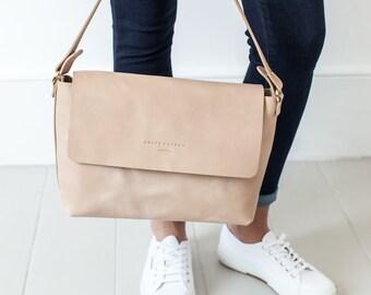 Rachel Shoulder bag in Natural Vegetable Tanned Leather