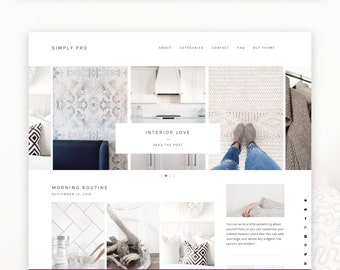 Simply Pro- Minimalist Wordpress Theme  — RESPONSIVE Wordpress Genesis Child Theme — Self-hosted Wordpress Blog Theme — Feminine Website