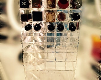 Clear Lipstick Tower/Organizer/Spinner holds 80 lipstick with 2 acrylic drawer