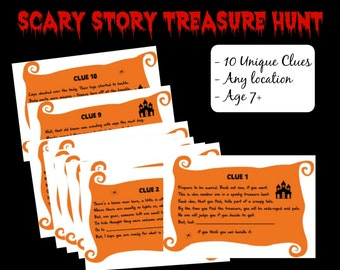 Scary Halloween Treasure Hunt Game