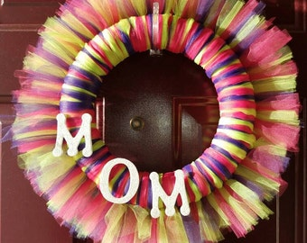 Mother's Day Tulle Wreath