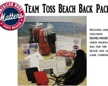 Beach Team Toss Game with Beach Spikers, Beach Game, Team Toss Game, Bean Bag Toss, Beach Spikers, Custom Beach Game, Summer Games, Monogram