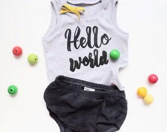 printed baby toddler singlet |  baby toddler tank top
