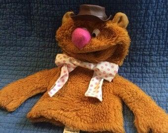 1978 Vintage Fozzie Bear Puppet/Muppet Puppet/Vintage Jim Henson/Fisher Price Puppet