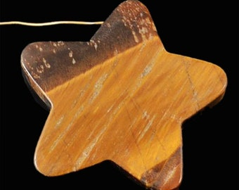 Natural Tiger Eye star  pendant bead ( #J1058)