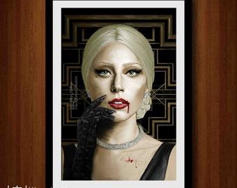 The Countess Digital Painting Print, American Horror Story: Hotel, Season 5