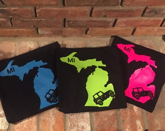 Michigan Jeep Shirt - Jeep Wrangler - Unisex Shirts