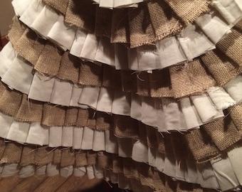 Burlap and Muslin Ruffle Tree Skirt