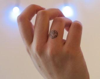 Moon Tiny Tatt | Temporary Tattoo illustrated by Chelsea-Lee Elliott