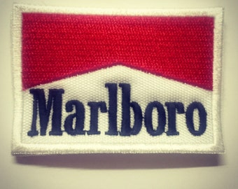 """Vintage Marlboro Patch red and white 2 1/2"""""""