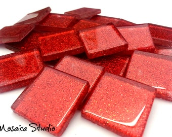 Glitter Tiles 23x23x4mm - x 36 Tiles More Colours to Choose From