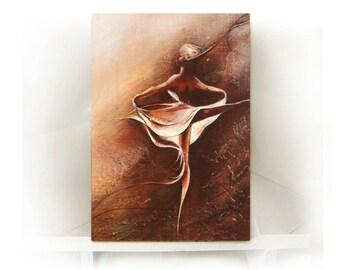 Oil Painting , Ballerina Oil Painting , Modern 3d Art , Original Pallet Knife Canvas painting , original  wall art painting wall decor art