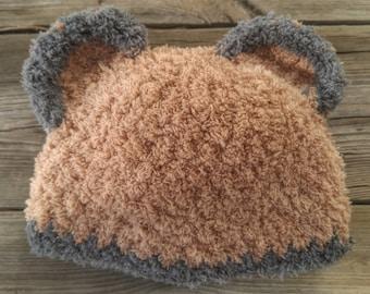 Baby bear hat - Newborn - 2 week old size