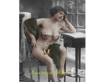 Mature Nude Erotic Photo Woman Printable Photograph Lady Instant Download Vintage Art Printable Print  Erotic Photography Photo