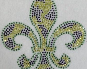 Mardi Gras Fleur De Lis Bling shirt