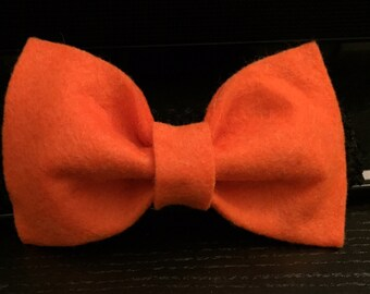 Orange Wool Felt Bow