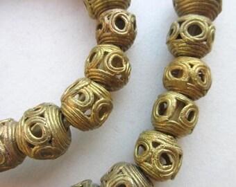 Tabular Brass Beads (14x13mm) [64731]