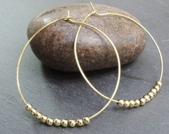 Hoop Earrings Beaded Womens Boho Jewellery UK